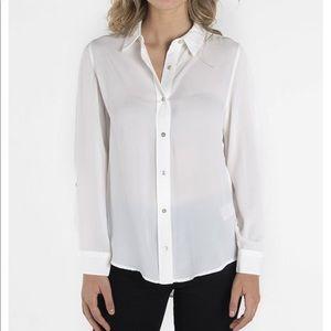 Nanette Lepore Long Sleeve Button Down Luxe Shirt